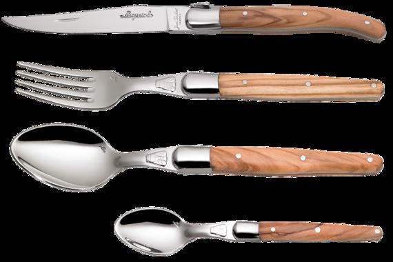 Laguiole flatware olivewood
