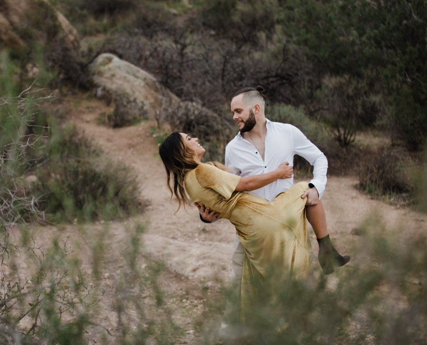 Rachel Birkhofer Photography, Dominique & Zach Elegant Outdoor Session, outdoor engagement, vasquez rocks engagement, velvet dress, yellow dress, adventure session, love, seattle wedding photographer, california adventure photographer, lifestyle session,