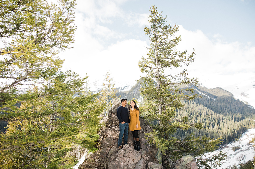 Engagement Session at Mt Rainier National Park