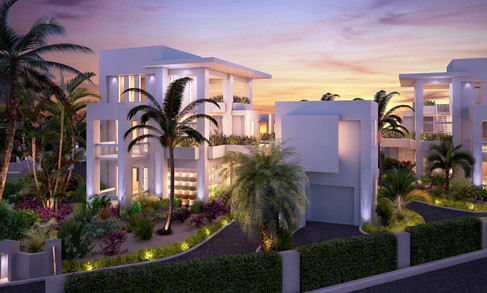 Turquoise Banks - Villa Twilight View 01
