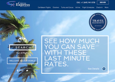 Web design Turks and Caicos Airline