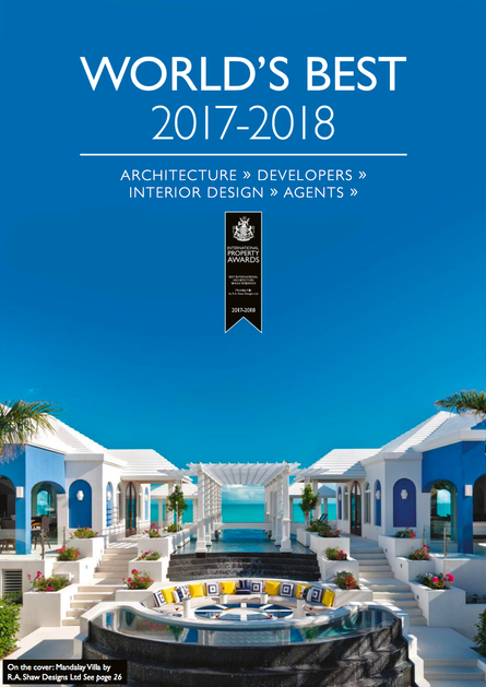 RA Shaw's Turks and Caicos Villa Featured on the cover of International Property Awards Magazine