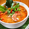 Tom Yum Soup with Provo Fish and Shrimp