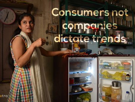 Consumers not companies dictate trends