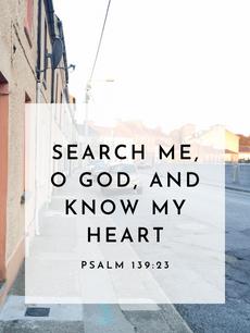 Psalm 139:23 | Verse iPhone Background