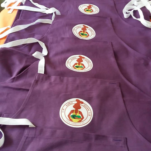 Handmade Aubergine Purple Apron