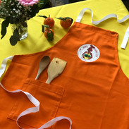 Handcrafted Pumpkin Orange Apron
