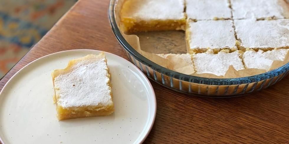 ONLINE Shortbread-based lemon bar cooking workshop
