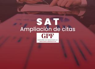 SAT Ampliación de citas para servicios y horario de atención.