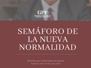 Segunda semana de junio 'Semáforo de la Nueva Normalidad'