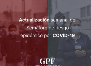 Semáforo de riesgo epidémico por COVID-19 01 junio 2020
