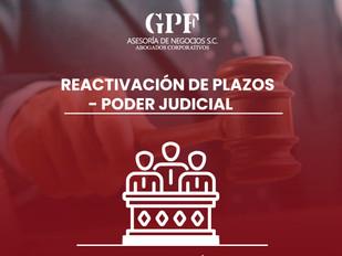 REACTIVACIÓN DE PLAZOS - PODER JUDICIAL Acuerdo General 21/2020 CJF
