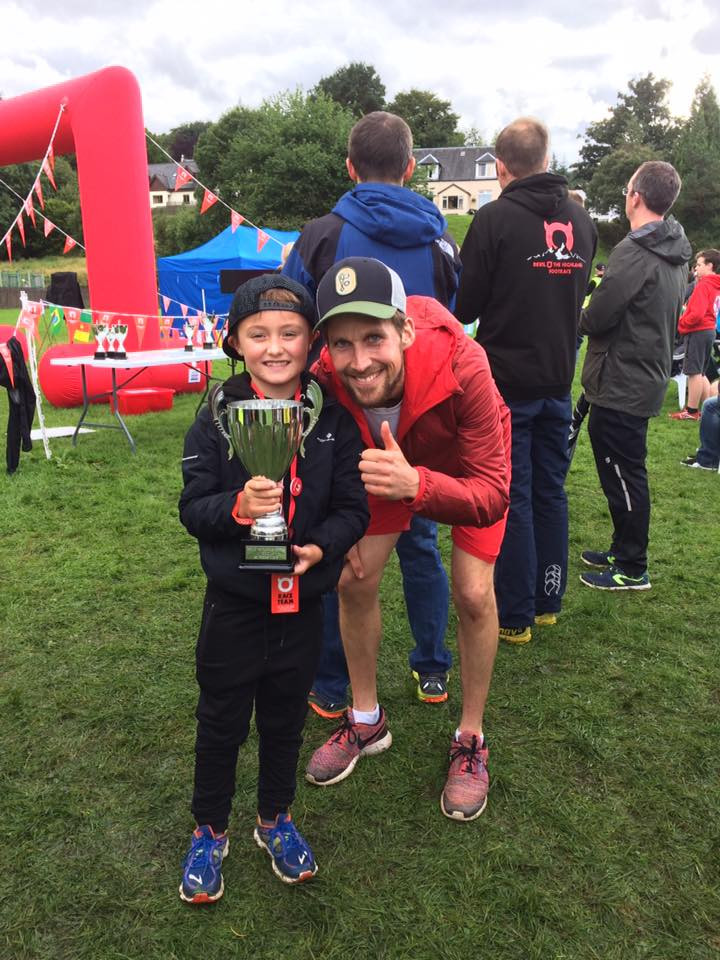 Male Record holder Rob Sinclair with fan