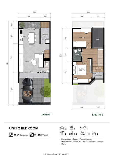 2 bedroom pandahos vue cireundeu