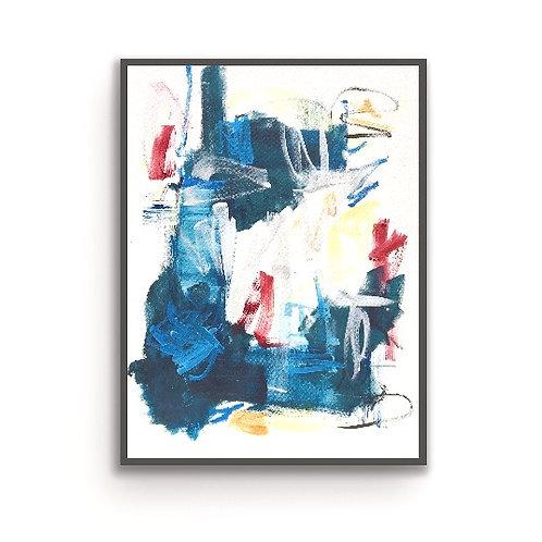 Abstract Blue Frivolity