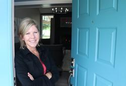 marcie at front door