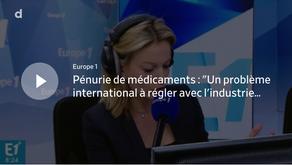 """Pénurie de médicaments : """"Un problème international à régler avec l'industrie pharmaceutique"""""""