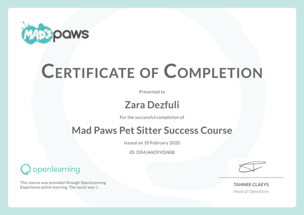 Pet Sitter Success