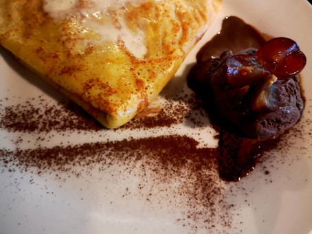 Do you love mango crepe with chocolate scoop?