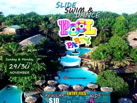 SLIDE, SWIM & DANCE (pool party)
