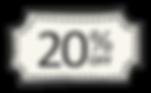20%オフ