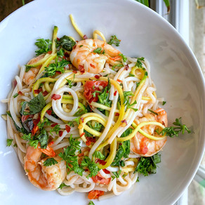 Herb & Garlic Jumbo Shrimp Noodles