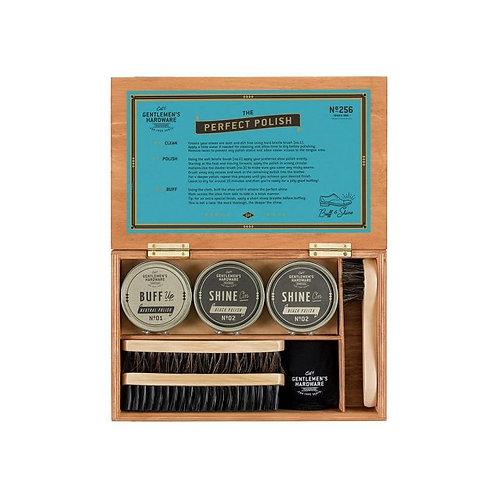 Cigar Box Shoe Shine Kit - Gentlemen's Hardware