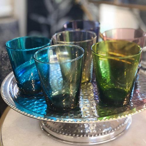 Tumbler Glass set of 6 (multi colour tint)