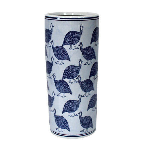 Guinea Fowl Ceramic Umbrella Stand