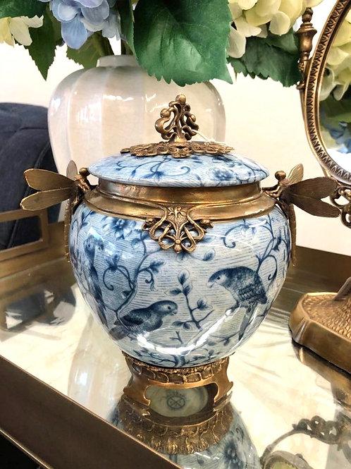 Blue Bird Dragonfly Jar