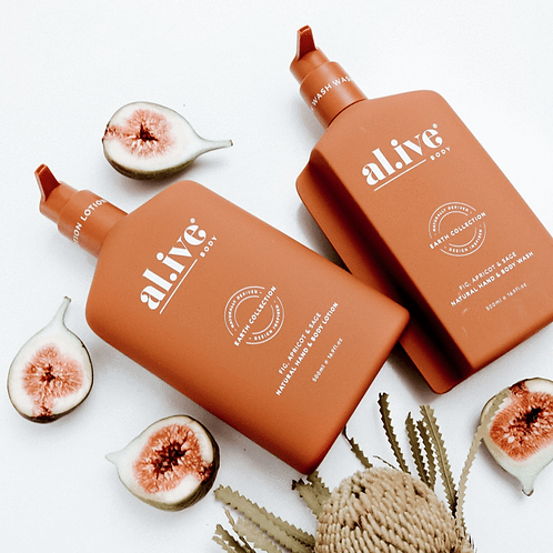 Fig, Apricot & Sage - Al.ive Wash & Lotion Duo + Tray