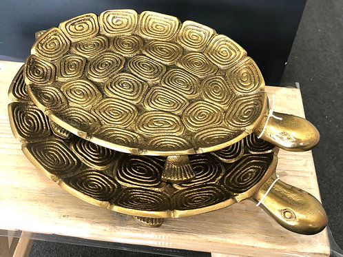 Gold Tortoise Plates - 2 Sizes