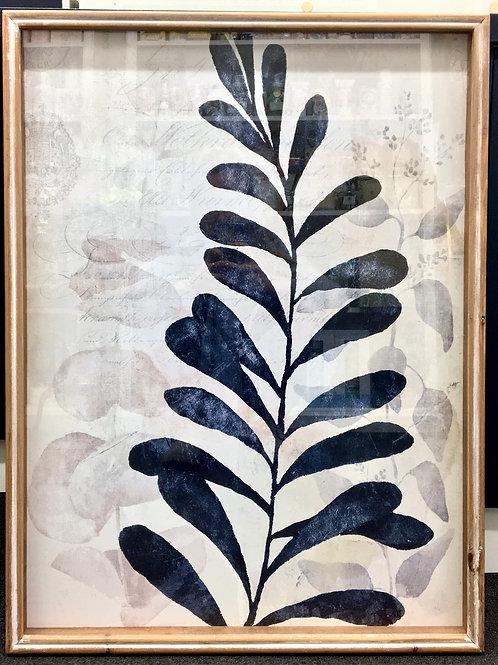 'Ink Leaf Study' Framed Print
