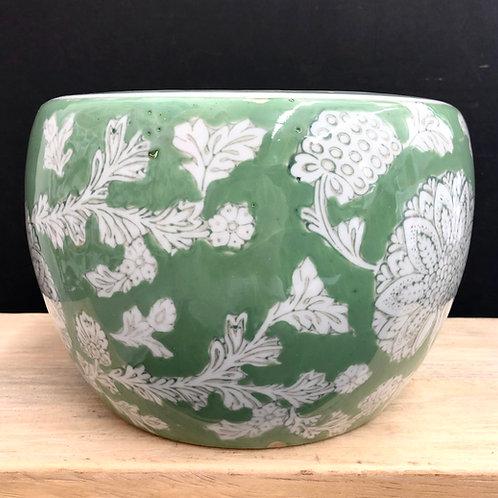 'Fern Tapestry' Ceramic Planter Pot