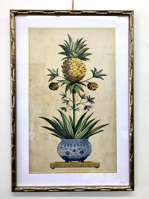'Long Pineapples 2' Framed Print