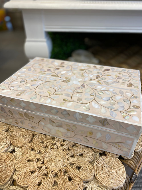 Box Mother of Pearl Inlay Pink