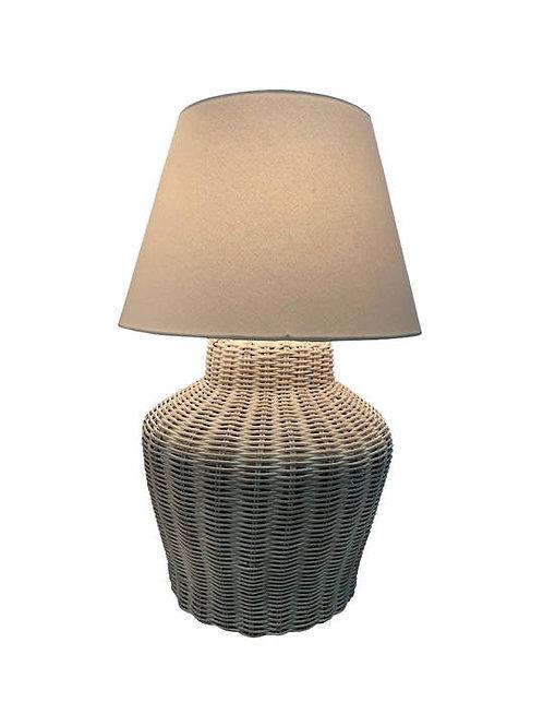 White Wash Rattan Lamp