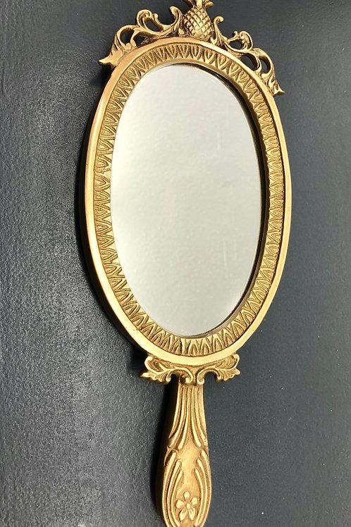 Este Brass Hand Mirror