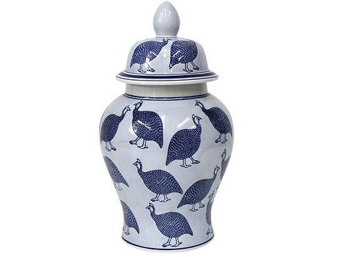Guinea Fowl Ceramic Ginger Jar