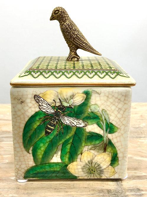 'Jardiner' Ceramic Lidded Trinket Box