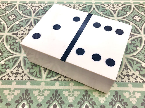 Bone Inlay Boxed Dominos Set