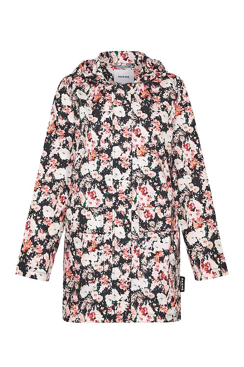 'Fleur' Patterned Recycled Raincoat - PAQME