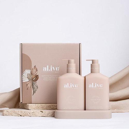 Applewood & Goji Berry  - Al.ive Wash & Lotion Duo + Tray