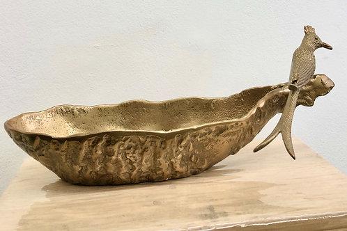 Antique Gold Bird Platter