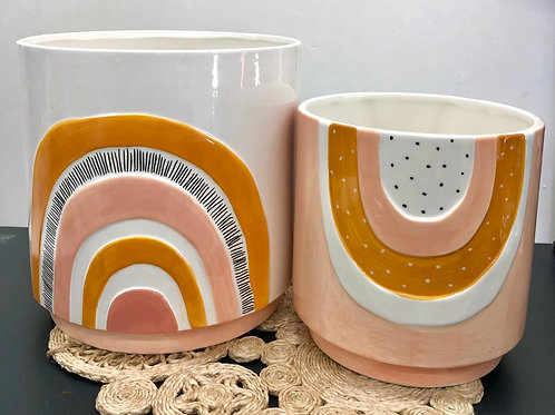'Woodstock' Ceramic Planter Pots