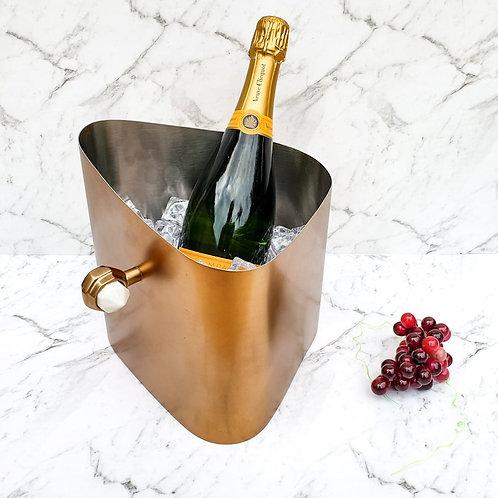 Ice Bucket / Wine Cooler - Copper & Marble
