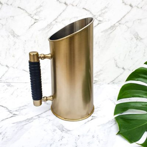 Water Jug - Brass & Leather