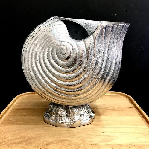 Nickel Sea Shell Vase