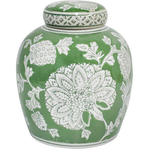 'Fern Tapestry' Medium Ceramic Ginger Jar