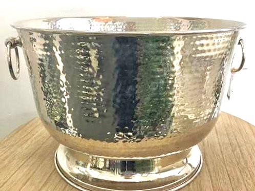 Hammered Nickel Large Champagne Bucket